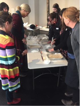 Teachers participating in the Love Token casting workshop. Image: Aimee Board